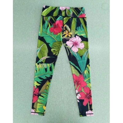 Yoga Pants, digital printed knitted high elastic 9-point pants, Aowei sports yoga clothing brand